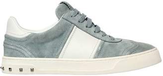 Valentino Flycrew Suede & Leather Sneakers