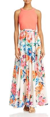 Eliza J Floral-Skirt Maxi Dress $168 thestylecure.com