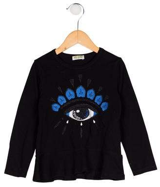 Kenzo Girls' Embroidered Top