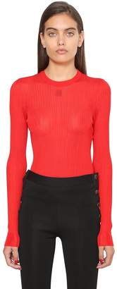 Givenchy Logo Detail Viscose Knit Top