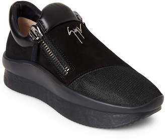 Giuseppe Zanotti Black Leather Double Sole Sneakers