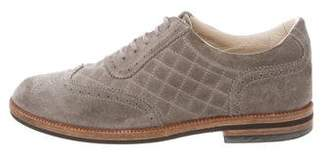 Chanel Quilted Wingtip Oxfords