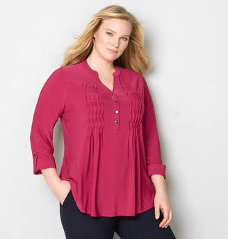 Avenue Smocked Pleated Top