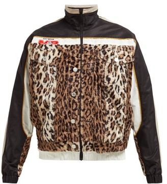 Martine Rose Leopard Wool And Technical Shell Jacket - Womens - Leopard