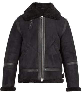Acne Studios Ian Shearling Jacket - Mens - Grey