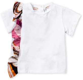 Emilio Pucci Infant Girls) White Ruffle Trim Tee