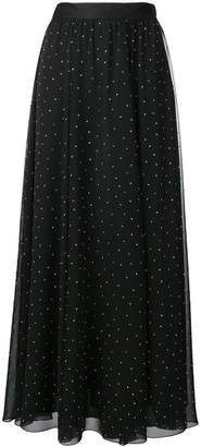 Philosophy di Lorenzo Serafini polka dots pleated skirt