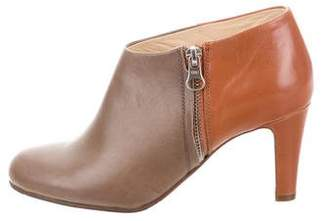 See by Chloe Leather Round-Toe Booties