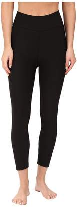 Plush Fleece-Lined Cropped Athletic Leggings with Hidden Pocket Women's Casual Pants