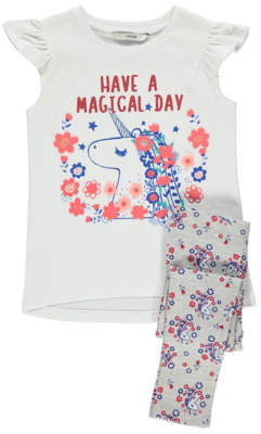George Unicorn Top and Leggings Outfit
