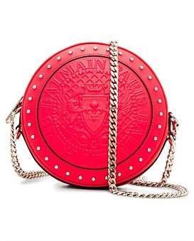 Balmain Crossbody Disco Bag-Smooth Leather