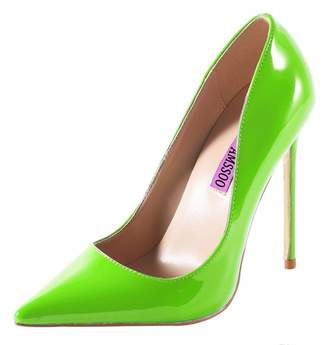 dd25c046f2e2 CAMSSOO Women s Sexy Fashion Shallow Pointed Toe Slip On High Heels Pumps  Dress Stilettos Court Shoes
