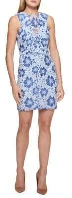 GUESS Illusion-V Floral Lace Dress