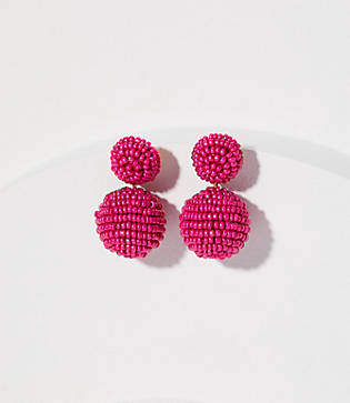 LOFT Beaded Ball Drop Earrings