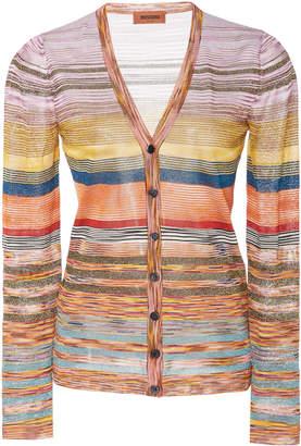 Missoni Multi-Color Striped Cotton Cardigan Size: 40