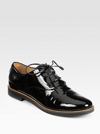 Maison Martin Margiela Patent Leather Lace-Up Oxfords