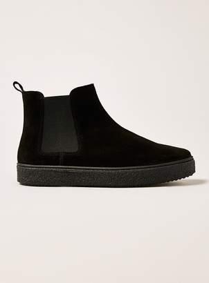 Black Suede Hilton Chelsea Boots