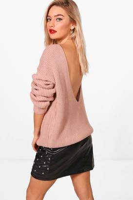 boohoo V-Back Oversized Jumper
