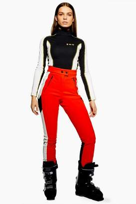 Topshop **Red Colour Block Trousers by SNO