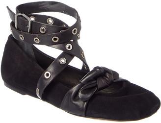 Schutz Gabori Suede & Leather Ballet Flat