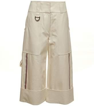 Burberry Stripe Wide-leg Trousers
