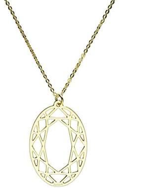 Girls' Best Friends Necklace Oval Brass 51 cm-Gold-GOGOVALoro