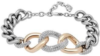 Swarovski Bound Pave Crystal Chunky Chain Bracelet