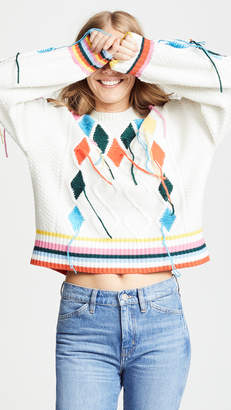 Mira Mikati Cable Knit Sweater