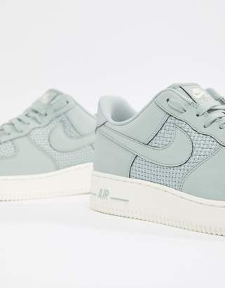 Nike Force 1 Woven Trainers In Grey AQ8624-002