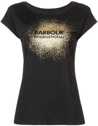 Barbour metallic print T-shirt