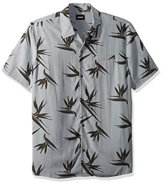 Hudson Jeans Men's Camp Collar Printed Shirt