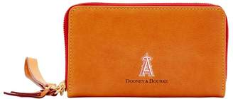 Dooney & Bourke MLB Angels Large Zip Around Phone Wristlet