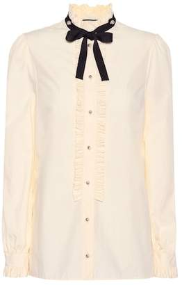 Gucci Embellished cotton blouse