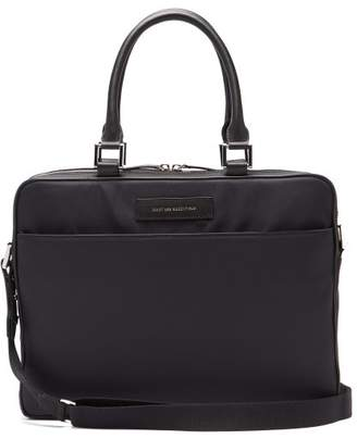 WANT Les Essentiels Haneda Leather Trimmed Nylon Briefcase - Mens - Black