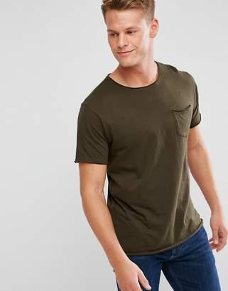 Brave Soul Basic Raw Edge T-Shirt