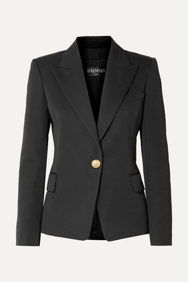 Balmain Wool-twill Blazer - Black