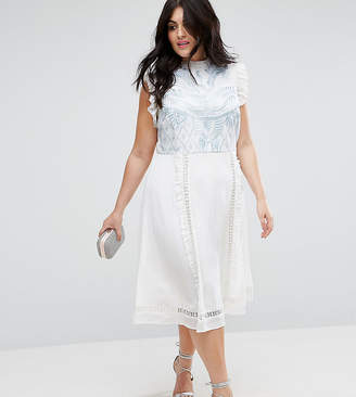 Asos PREMIUM Sleeveless Embroidered midi dress
