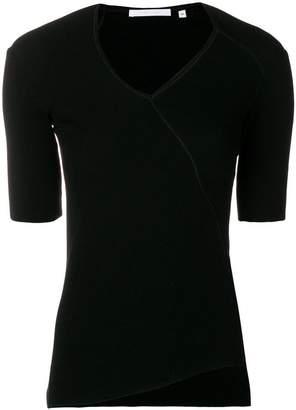 Helmut Lang ribbed asymmetric T-shirt
