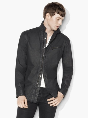 Resin Coated Shirt Jacket $498 thestylecure.com