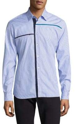Tomas Maier California Stripe Poplin Cotton Dress Shirt