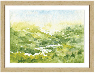 One Kings Lane Watercolor Landscape Print I Art