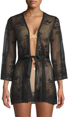 Cosabella Women's Sheer Lace Robe