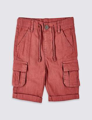 Marks and Spencer Linen Rich Shorts (3 Months - 7 Years)