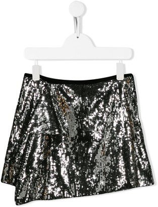 Alberta Ferretti Kids sequinned mini skirt