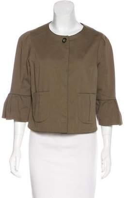 Fendi Collarless Tailored Jacket