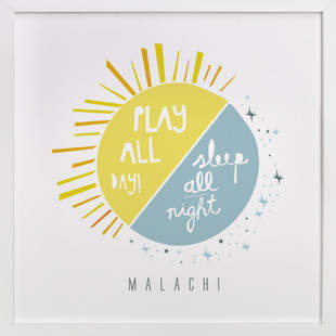 Play All Day, Sleep All Night Nursery Custom Art Print