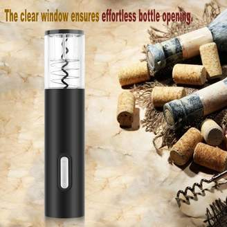Blackhot Portable Homeuse Automatic Wine Bottle Opener Electric Corkscrew Wine Opener Cordless With F Cutter Vacuum Stopper