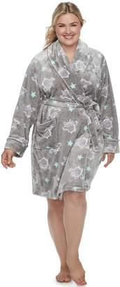 Sonoma Goods For Life Plus Size SONOMA Goods for Life Short Plush Robe