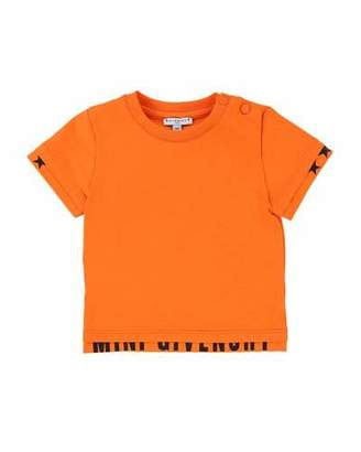 Givenchy Short-Sleeve Tee w/ Logo Banded Detail, Size 2-3