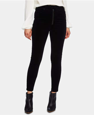 1 STATE 1.state Exposed Zipper Corduroy Skinny Pants